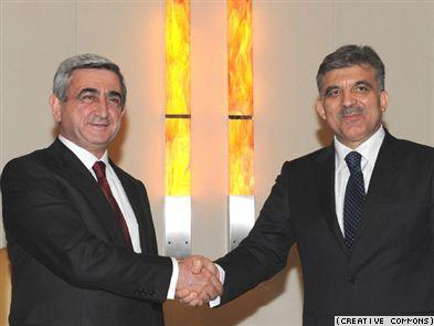 Serzh Sarkisyan and Abdullah Gul